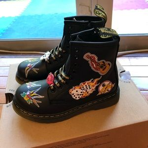 Dr martens 1460 patch boots child size 11 Romario